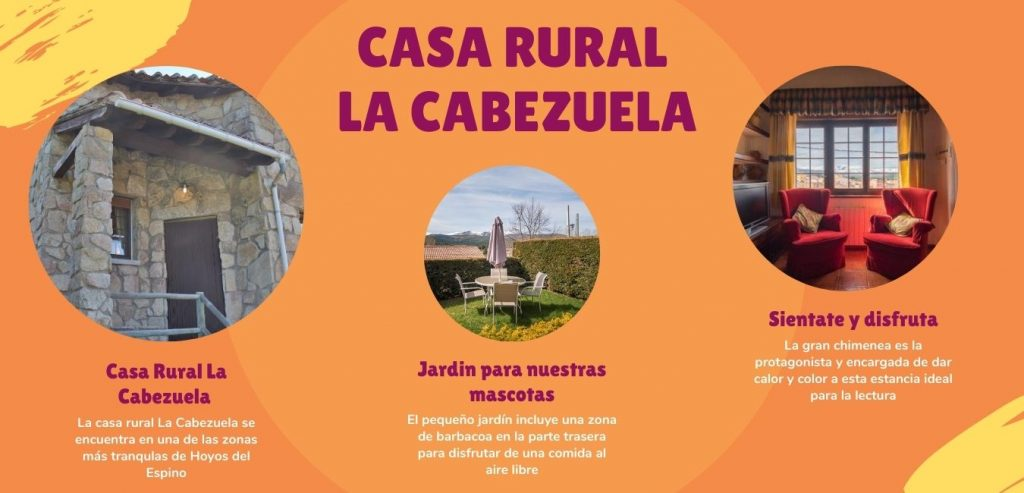 Casa rural La Cabezuela, acepta mascotas